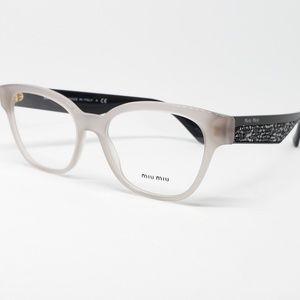 6ac8e2b8348f Miu Miu Rx Eyeglasses Shinny Crystals Gray Black
